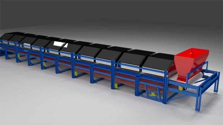 mir steel belt dryer view 2