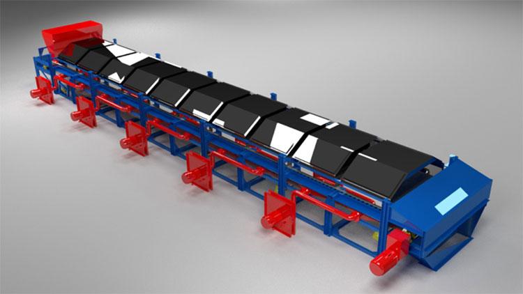 mir steel belt dryer view 1